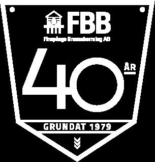 Emblem för FBB 40 år