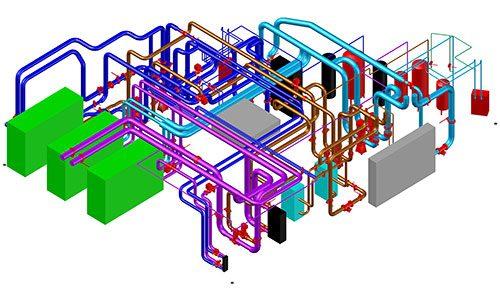 Geoenergi - Modell som visar mediacentral