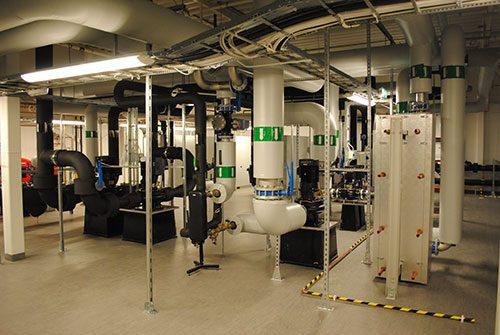 Geoenergisystem - Rör och kontrollstationer