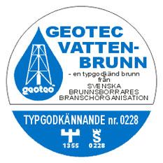 Logotyp för Geotec vatten-brunn