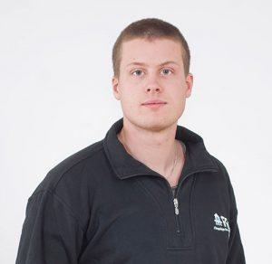 Porträtt av Daniel Andersson, borrare på FBB