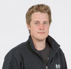Porträtt av Linus Eriksson, kollektormontör/borrare på FBB