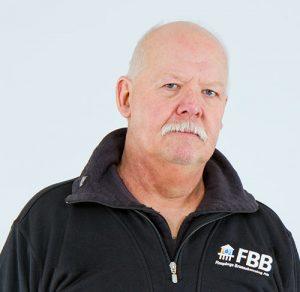 Porträtt av Charles Arvidsson, verkstad och lager på FBB