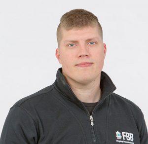 Porträtt av Jonas Fredriksson, kollektormontör/borrare på FBB