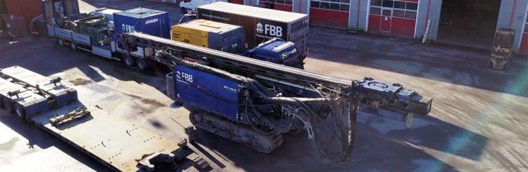 Grovhålsborrning i Kiruna - Lastning